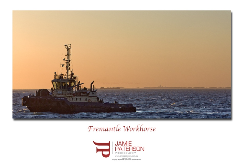 fremantle, australian landscape photography, landscape photography, seascape photography, tugboat